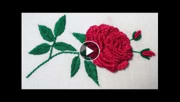Hand Embroidery : Brazilian Embroidery ( Rose )
